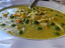 Sopa de Pollo y Guisantes
