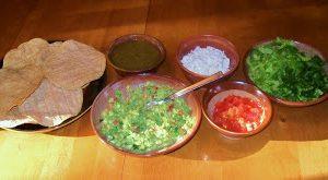 Tostadas Vegetarianas Mexicanas
