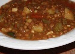 Sopa de Lentejas y Nopales