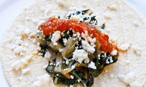 Tacos de Acelga con Ajo