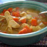 Sopa de Pollo y Chiles Ancho