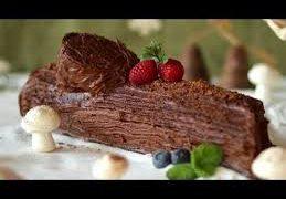 Tronco Navideño de Nuez y Chocolate