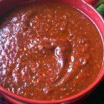 Salsa de chiles rojos